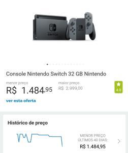 Nintendo Switch 32gb Neon - Cartão Americanas