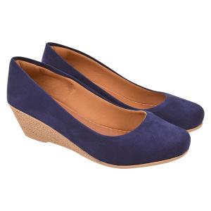 Sapato Chiquiteira Anabela Suede Marinho | R$40