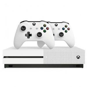 Console Microsoft Xbox One S 1TB + 2 Controles sem Fio BrancoBlu-ray e Resolução Ultra Hd 4K | R$1.520