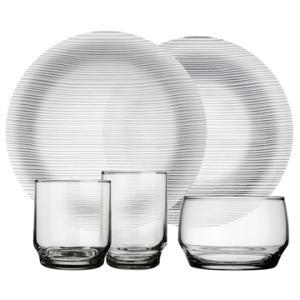 Aparelho Jantar 20 Peças em Vidro Diamante - Duralex | R$62