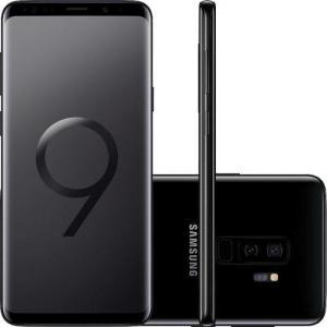 """Smartphone Samsung Galaxy S9+ Desbloqueado Tim 128GB Dual Chip Android 8.0 Tela 6,2"""" Octa-Core 2.8GHz 4G Câmera 12MP Duam Cam - Preto"""