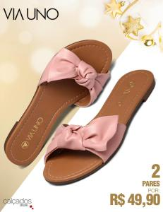 2 pares de sandália por R$49,90 - Calçados Online