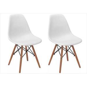 Conjunto 2 Cadeiras Eiffel Eames Dsw Branca - R$185