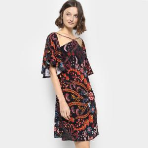 Vestido Forum Estampado Feminino - Preto (P e M) - R$ 240