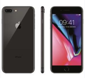"""iPhone 8 Apple Plus com 64GB, Tela Retina HD de 5,5"""", iOS 11, Dupla Câmera Traseira, Resistente à Água, Wi-Fi, 4G LTE e NFC - R$3144"""