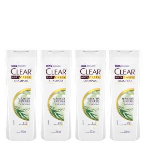 Kit Shampoo Anticaspa Clear Women Alívio da Coceira 200ml 4 Unidades - Incolor 31,00 Frete Gratis