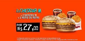 2x Cheddar M + 2x Batatas M + 2x Refri