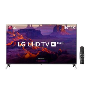 "Smart TV LED 50"" LG 50UK6510 Ultra HD 4K WebOS 4.0 4 HDMI 2 USB - R$ 2099"