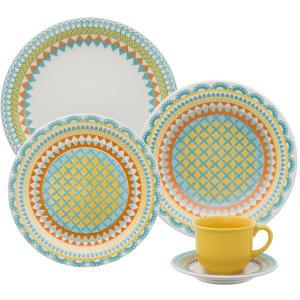 Aparelho de Jantar com Chá 20 Peças Oxford, Floreal Bilro - R$166