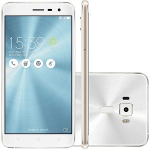Smartphone Asus Zenfone 3, 64GB, 16MP, Tela 5.5´, Branco - ZE552KL-1B038BR por R$ 950