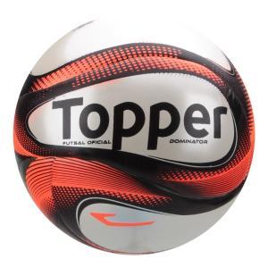 Bola Futsal Topper Dominator Pro - Vermelho e Preto | R$80