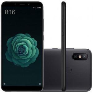 Smartphone Xiaomi MI A2 64GB Versão Global Desbloqueado Preto - R$994