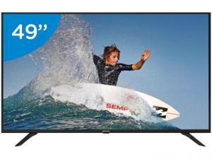 "Smart TV 4K LED 49"" Semp SK6000 Wi-Fi - Conversor Digital 3 HDMI USB por R$ 1709"