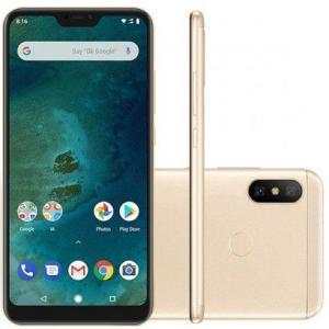 Smartphone Xiaomi MI A2 Lite 64GB Versão Global Desbloqueado Dourado | R$891
