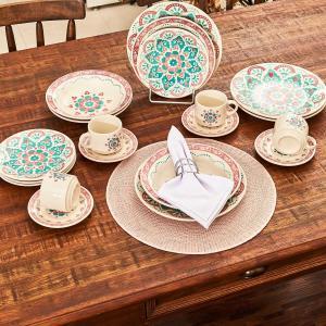 Jogo de Jantar Cerâmica 20 peças Donna Oxford Perola - R$99