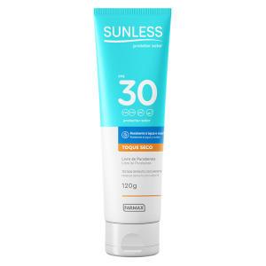 Protetor Solar Sunless Toque Seco FPS 30 - 120g - R$21