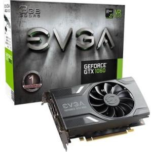 Placa de Vídeo EVGA NVIDIA GeForce GTX 1060 Gaming 3GB, GDDR5 - 03G-P4-6160-KR