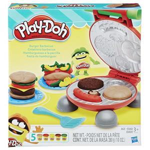 Conjunto de Massinha Play-Doh Festa do Hamburguer 5 Potes Hasbro   R$42