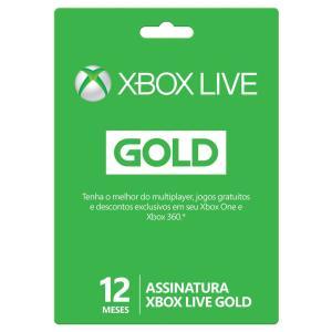Xbox Live Gold - 12 Meses - R$129,90