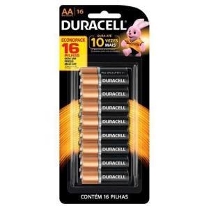Pilha Duracell Alcalina Pequena Aa C/16 Unidades com frete Grátis por R$ 33
