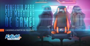 Promoção Cadeiras Gamer Kabum