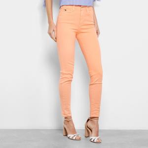 Calça Skinny Colcci Sarja Bia Cintura Média Feminina - Laranja (36) - R$ 155
