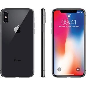 "iPhone X Cinza Espacial 64GB Tela 5.8"" IOS 11 4G Wi-Fi Câmera 12MP - Apple POR r$ 3991"