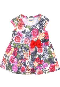 Vestido Duzizo Floral Branco/Rosa R$10
