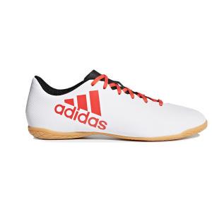 Chuteira Futsal Adidas X 17.4 IN - Branco e Vermelho (Tam. 44) | R$100