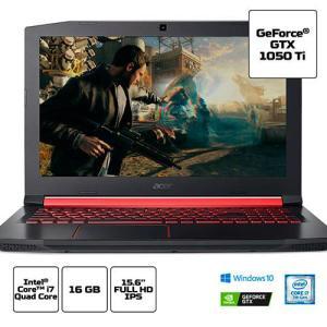 "[APP SHOPTIME] Notebook Acer Aspire Nitro 5 An515-51-78d6 I7-7700hq 16gb HD 1tb 15.6"" FHD (Gtx 1050 Ti 4gb) W10 | R$4.160 (R$3.744 com AME)"