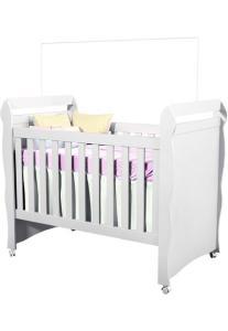 Berço Mini Cama Mirelle 2 em 1 Branco - Carolina Baby | R$316