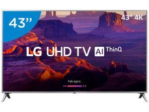 "Smart TV 4K LED 43"" LG 43UK6520 Wi-Fi HDR - Inteligência Artificial Conversor Digital 4 HDMI por R$ 1619"
