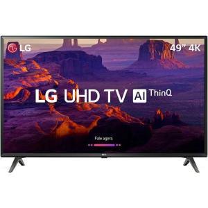 "(App Shoptime - Cartão Shoptime) Smart TV LED 49"" LG 49UK6310 Ultra HD 4k com Conversor Digital Wi-Fi Webos 4.0 Dts Virtual X 60Hz - Preta"