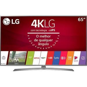 "(App Shoptime) Smart TV LED 65"" LG 65UJ6585 Ultra HD Conversor Digital Wi-Fi integrado 2 USB 4 HDMI webOS 3.5 Sistema de Som Ultra Surround"