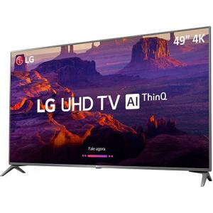 "[AME 5%]  Smart TV LED 49"" LG 49UK6310 Ultra HD 4k com Conversor Digital 3 HDMI 2 USB Wi-Fi Webos 4.0 Dts Virtual X 60Hz - Preta | R$1.929"