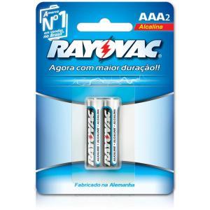 R$ 1,50 Pilha Alcalina AAA c/ 2 unid. - Rayovac