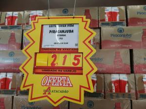 [Loja Física - Atacadão Guarulhos] Leite Piracanjuba 1L - R$2,15