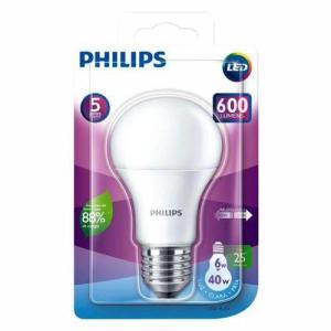 Kit 6 Lâmpadas Led Bulbo 6w 6500k Bivolt 600 Lumens Philips   R$33