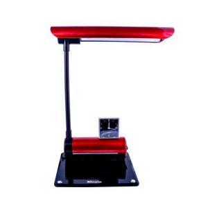 Luminária De Mesa Maximos Vermelho Com Relógio Ponteiro - 127V | R$40