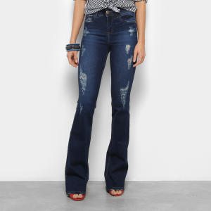 Calça Jeans Colcci Flare Bia Bordada Feminina - Jeans (36, 42 e 46) - R$ 328