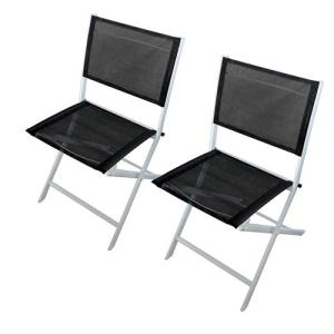 Kit com 2 Cadeiras Importado Cine Dobráveis - Branca/Preta R$163