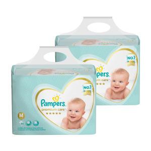 Kit de Fraldas Pampers Premium Care Jumbo M/G/XXG por R$ 132