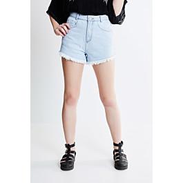 Short Mom Cintura Alta em Jeans Delavê - R$54