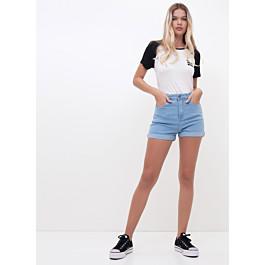 Short Cintura Alta em Jeans Claro - R$45