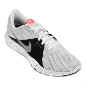Tênis Nike Flex Trainer 8 Feminino - Branco e prata