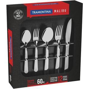Faqueiro Inox 60 peças Malibu La Cuisine by Tramontina - R$89