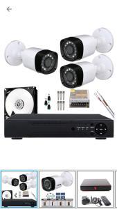 Kit 3 Cameras Infra Hd 1mp 720p 2.8mm Com Dvr 4ch Externa - Power | R$519