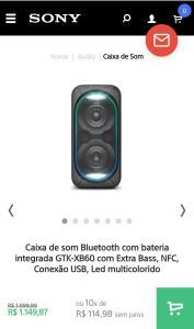 Caixa de som Bluetooth com bateria integrada GTK-XB60 [200 RMS]