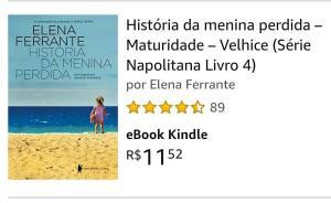 eBook Kindle - Série Napolitana - Helena Ferrante