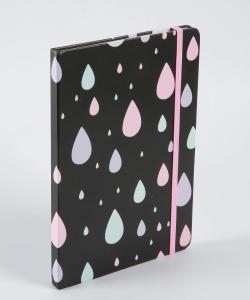 Caderneta Anotações Estampa Gotas | R$10